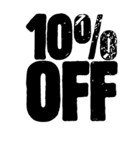 10% off - discount - special offer